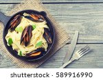 Pasta Tagliatelle With Mussels...