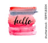 hand drawn watercolor... | Shutterstock .eps vector #589918304