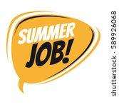 summer job retro speech balloon | Shutterstock .eps vector #589926068