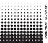 halftone dots. black dots on... | Shutterstock .eps vector #589926584