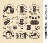 set of vector logos on st....   Shutterstock .eps vector #589929248
