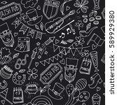 st.patrick 's day . seamless...   Shutterstock .eps vector #589929380