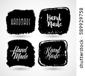 handmade  crafts workshop  made ... | Shutterstock .eps vector #589929758