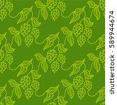 Hop Beer Seamless Pattern...