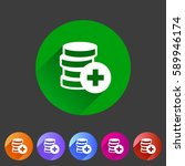 add money coins wallet icon...
