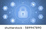 cryptology concept.... | Shutterstock .eps vector #589947890