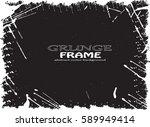 grunge frame. vector... | Shutterstock .eps vector #589949414