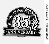 35 years anniversary logo... | Shutterstock .eps vector #589956590
