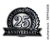 25 years anniversary logo...   Shutterstock .eps vector #589956608