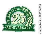 25 years anniversary logo... | Shutterstock .eps vector #589956659