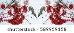 pink peppercorns  garlic bulbs  ... | Shutterstock . vector #589959158