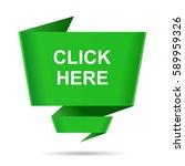 speech bubble click here design ... | Shutterstock . vector #589959326