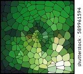 abstract green mosaic pattern.  ... | Shutterstock .eps vector #589961594