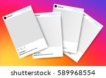 four photo frame vector... | Shutterstock .eps vector #589968554