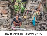 manaslu circuit trek  gorkha... | Shutterstock . vector #589969490