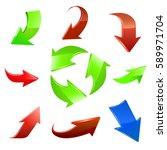 arrow set. vector | Shutterstock .eps vector #589971704