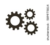 gears on a white background....   Shutterstock .eps vector #589975814