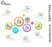 modern infographic design... | Shutterstock .eps vector #589975946