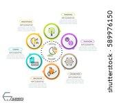 creative infographic design... | Shutterstock .eps vector #589976150