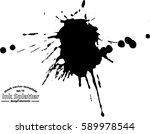 abstract black ink splash... | Shutterstock .eps vector #589978544