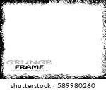 grunge frame. vector... | Shutterstock .eps vector #589980260