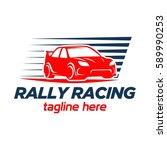 car racing logo template  ... | Shutterstock .eps vector #589990253