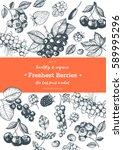 berries hand drawn  vector... | Shutterstock .eps vector #589995296