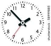 vector illustration of a clock... | Shutterstock .eps vector #58999885