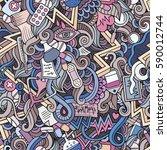 cartoon cute doodles hand drawn ... | Shutterstock .eps vector #590012744