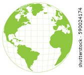 isolated map of the world ... | Shutterstock .eps vector #590024174