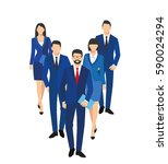 business men and women... | Shutterstock . vector #590024294