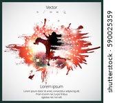 karate kick | Shutterstock .eps vector #590025359