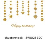 set of isolated garlands made... | Shutterstock . vector #590025920
