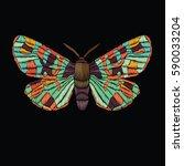 vector vintage tropical... | Shutterstock .eps vector #590033204