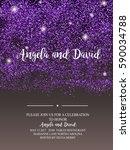 invitation for wedding ... | Shutterstock .eps vector #590034788