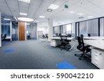 part of ordinary office room... | Shutterstock . vector #590042210