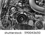 car engine  concept of modern... | Shutterstock . vector #590043650