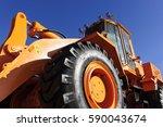 Bulldozer  Huge Orange Powerfu...