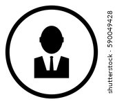 businessman icon in circle on...