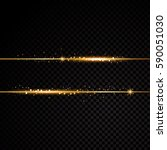 two golden lines with light... | Shutterstock .eps vector #590051030