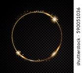vector round frame. shining... | Shutterstock .eps vector #590051036