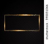vector rectangle frame. shining ... | Shutterstock .eps vector #590051066