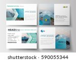 set of business templates for... | Shutterstock .eps vector #590055344