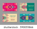 aztec style colorful business... | Shutterstock .eps vector #590055866