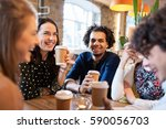 leisure  drinks  people and... | Shutterstock . vector #590056703