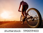 Asian Men Are Cycling Road Bike ...