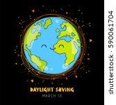 daylight saving. vector... | Shutterstock .eps vector #590061704