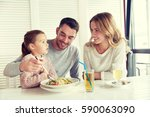family  parenthood  food and... | Shutterstock . vector #590063090