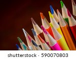 closeup of sharpened color... | Shutterstock . vector #590070803
