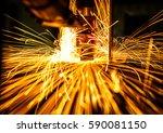 motion welding robots in a car... | Shutterstock . vector #590081150